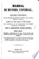 Manual de Historia Universal ... Tercera edicion