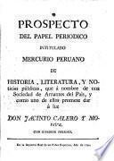 Mercurio peruano de historia, literatura y noticias