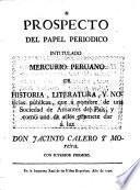 Mercurio peruano de historia, literatura, y noticias públicas