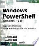 Windows PowerShell (versiones 1 y 2)